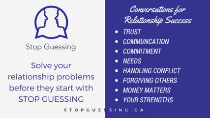 Solve your relationship problems before they start with STOP GUESSING-2